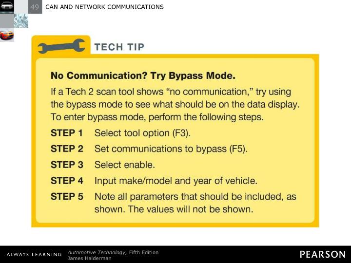 TECH TIP: No Communication? Try Bypass Mode.