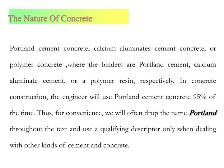 Calcium Aluminate Cement Applications : Ppt concrete technology powerpoint presentation id
