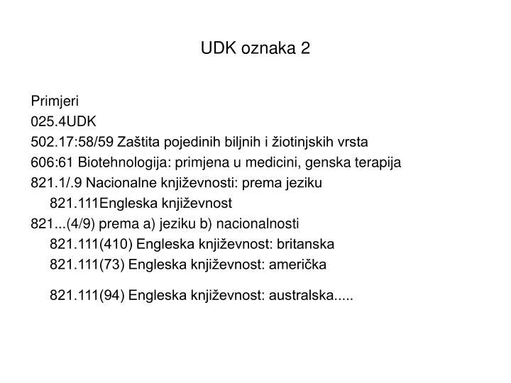 UDK oznaka 2