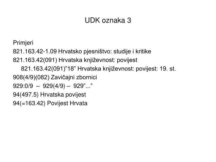 UDK oznaka 3