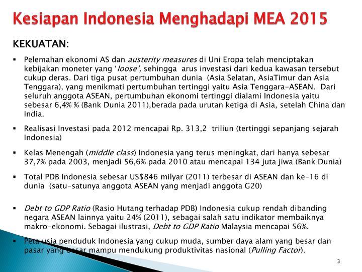 Kesiapan Indonesia Menghadapi