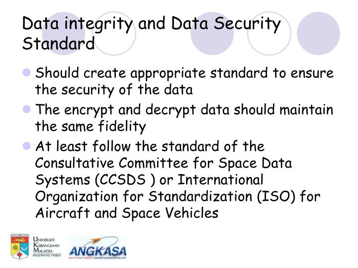 Data integrity and Data Security Standard