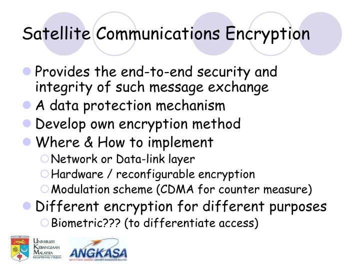 Satellite Communications Encryption