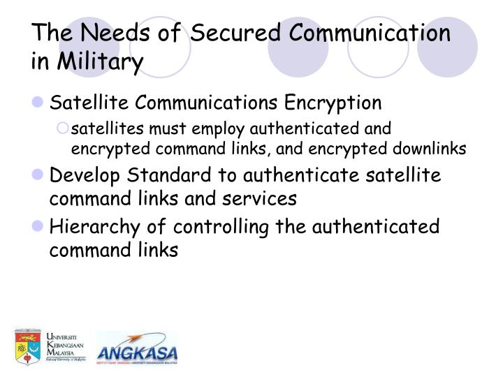 The Needs of Secured Communication in Military