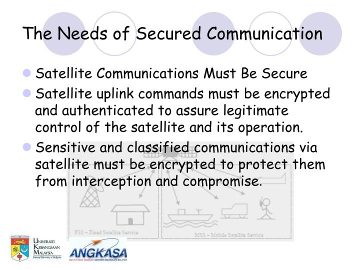 The Needs of Secured Communication
