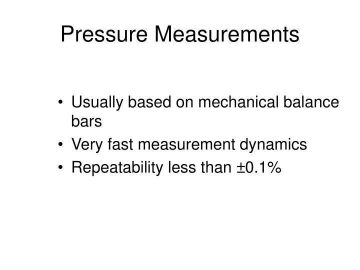 Pressure Measurements