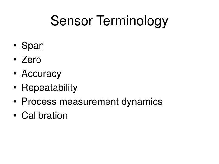 Sensor Terminology