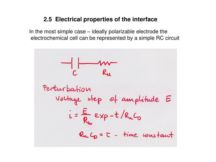 2.5  Electrical properties of the interface