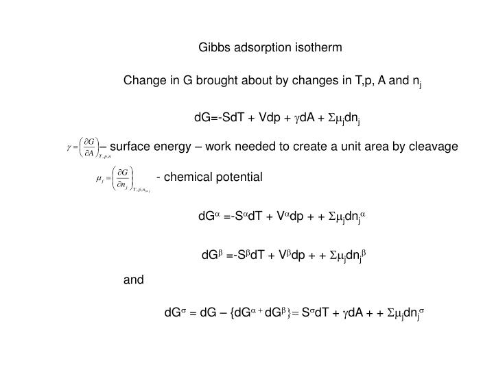 Gibbs adsorption isotherm
