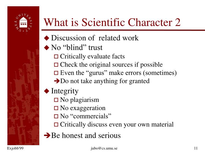 What is Scientific Character 2