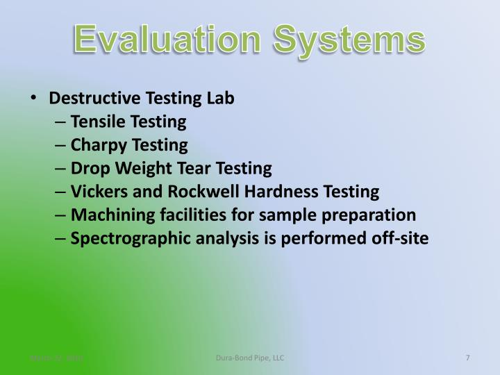 Evaluation Systems