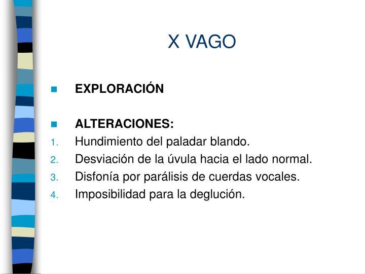 X VAGO