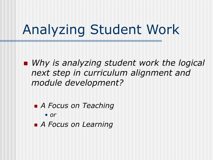 Analyzing student work1