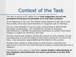 context of the task