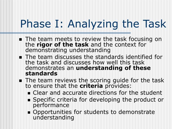 Phase I: Analyzing the Task