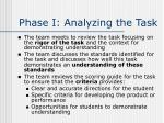 phase i analyzing the task