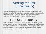 scoring the task individually