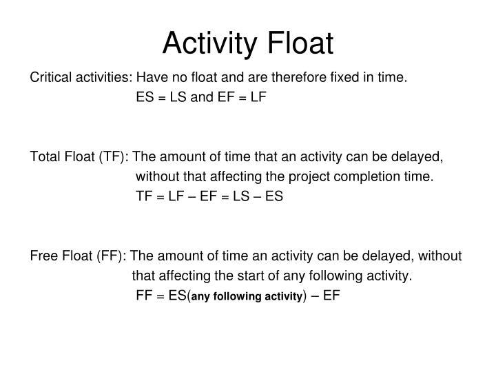 Activity Float