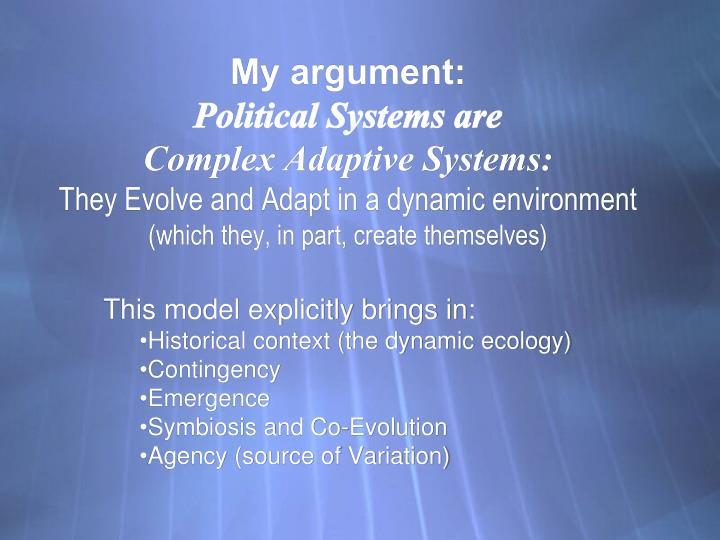 My argument: