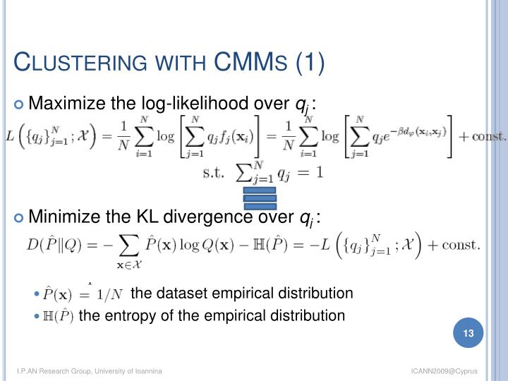 Clustering with CMMs (1)