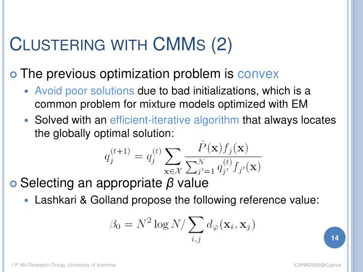 Clustering with CMMs (2)