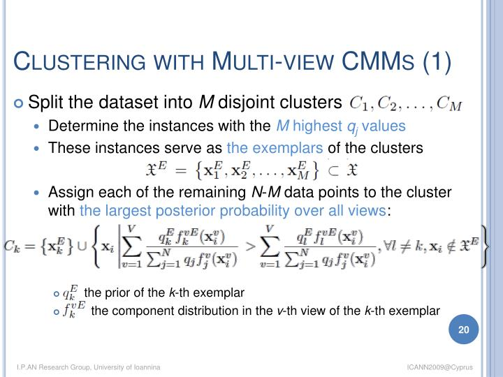 Clustering with Multi-view CMMs (1)