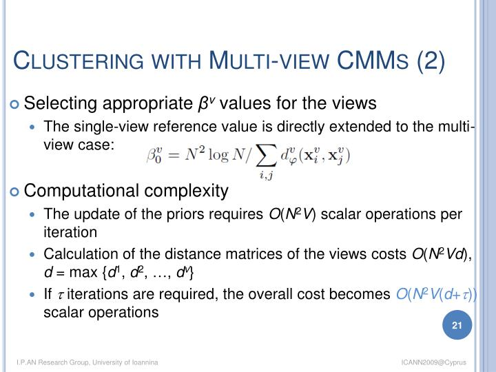 Clustering with Multi-view CMMs (2)
