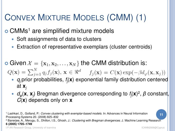Convex Mixture Models (CMM) (1)