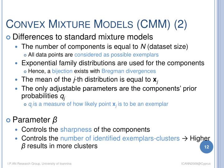 Convex Mixture Models (CMM) (2)