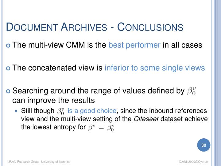 Document Archives - Conclusions