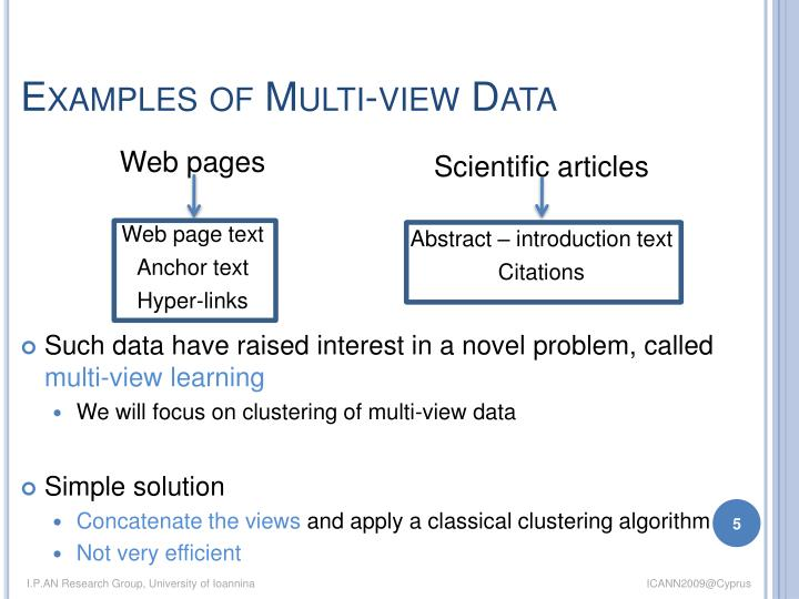 Examples of Multi-view Data