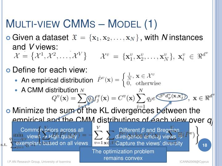 Multi-view CMMs – Model (1)