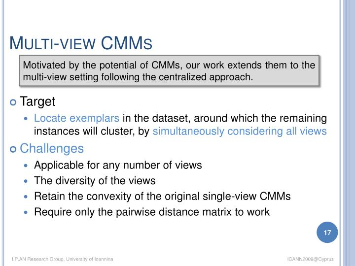 Multi-view CMMs