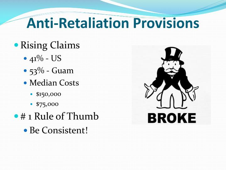 Anti-Retaliation Provisions