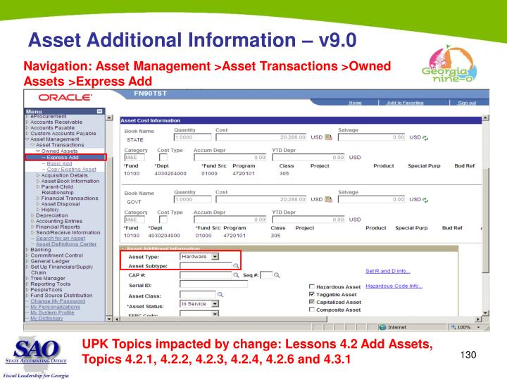 Asset Additional Information – v9.0