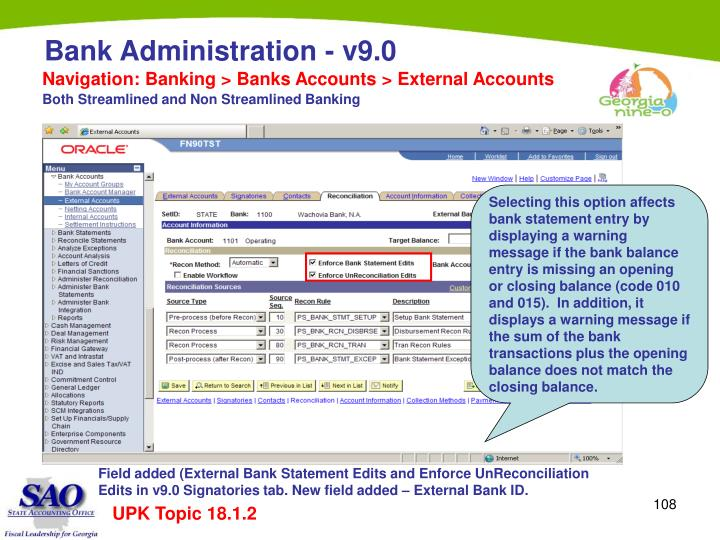 Navigation: Banking > Banks Accounts > External Accounts