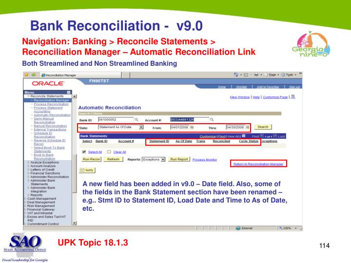 Navigation: Banking > Reconcile Statements > Reconciliation Manager – Automatic Reconciliation Link