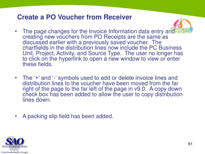 Create a PO Voucher from Receiver