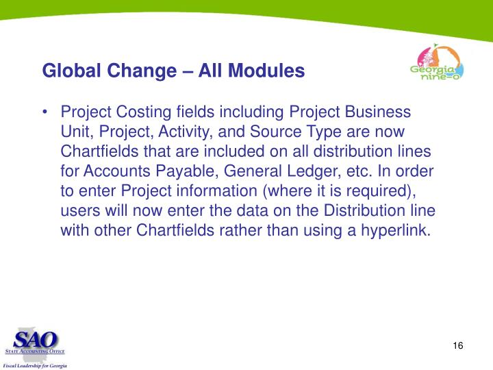 Global Change – All Modules
