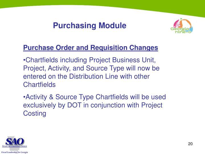 Purchasing Module