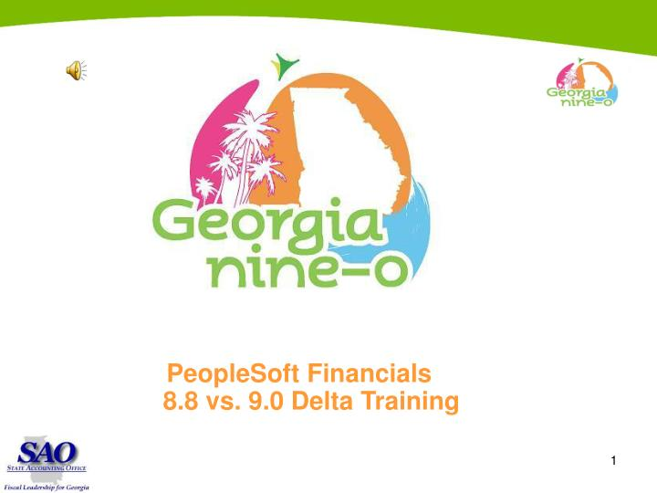 PeopleSoft Financials