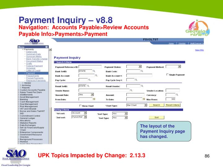 Payment Inquiry – v8.8
