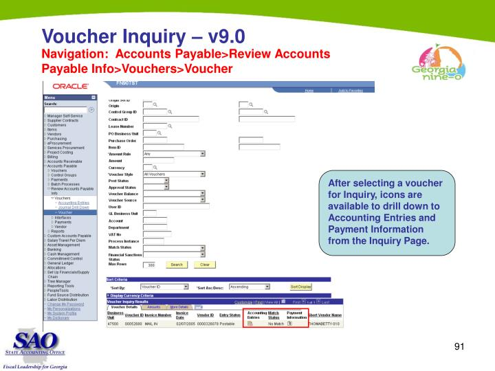 Voucher Inquiry – v9.0