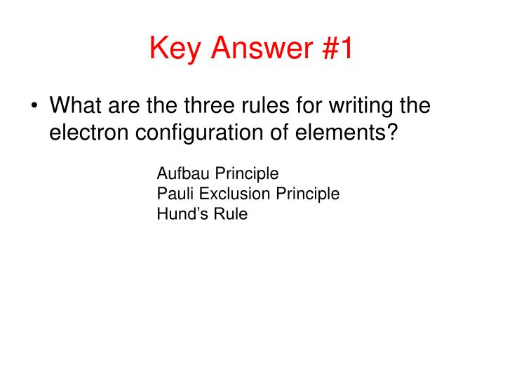 Key Answer #1