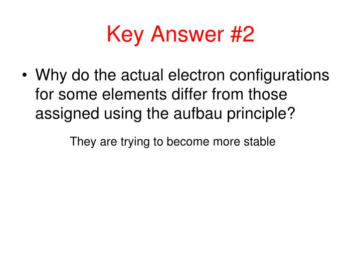 Key Answer #2