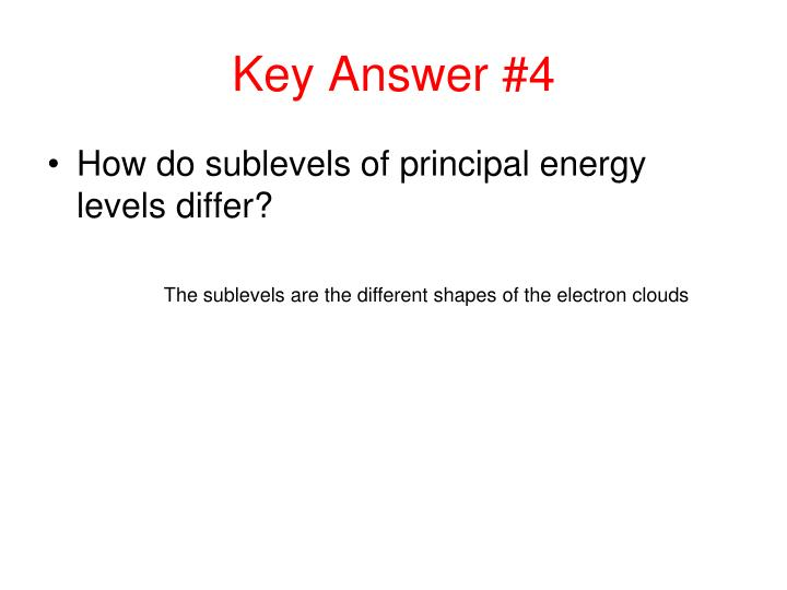 Key Answer #4