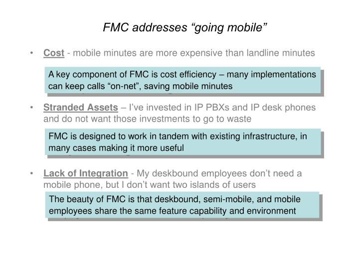 "FMC addresses ""going mobile"""
