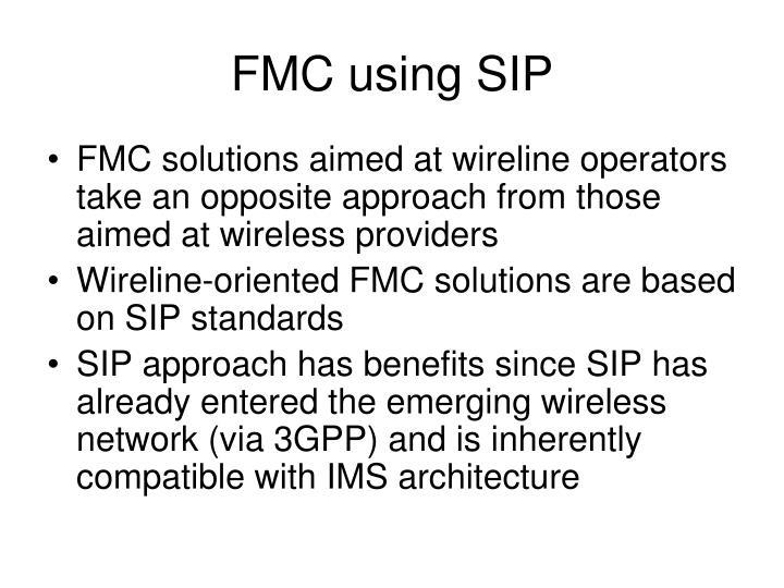 FMC using SIP
