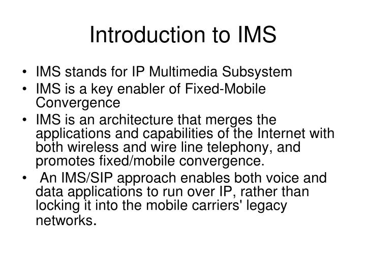 Introduction to IMS