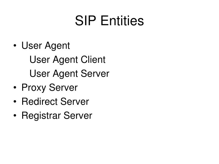 SIP Entities